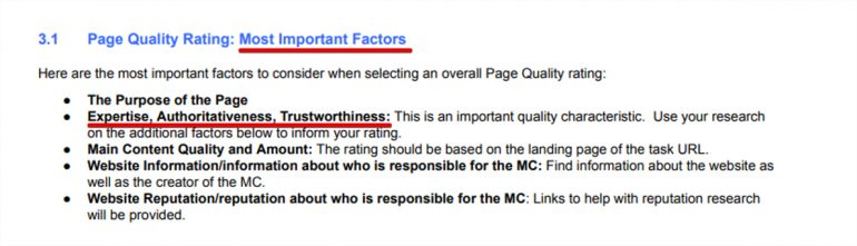 Page quality rating volgens Google.