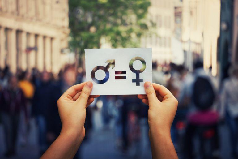 Weergave van de keuze tussen man of vrouw.
