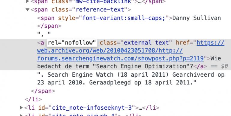 nofollow-link in code.