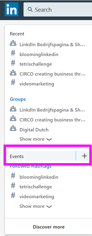 LinkedIn events aanmaken