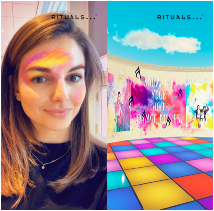 Artificial intelligence: Ritual of Holi Lens op Snapchat.