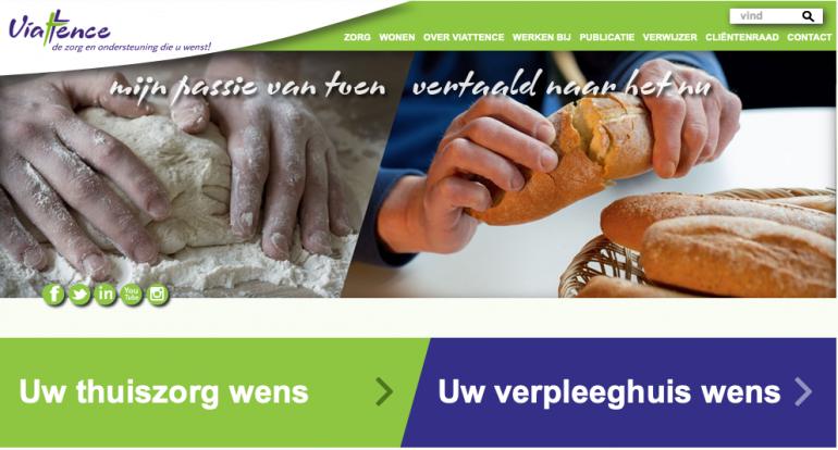 Homepage van Viattence
