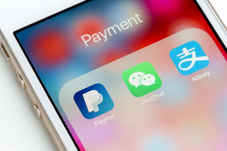 Mobiel betalen met wechat of alipay.