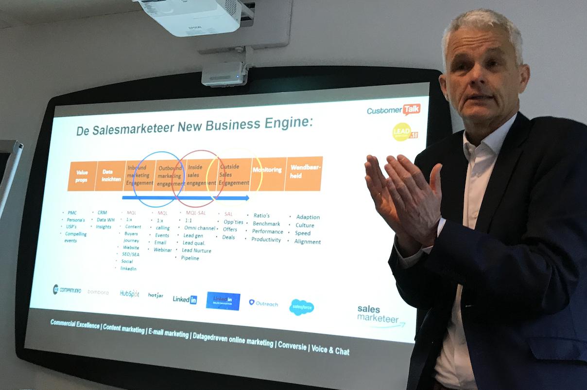 LeadDay20 Ronald Bottema - De Salesmarketeer New Business Engine Treintje