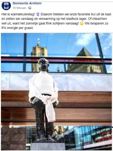 Voorbeeld van een socialmedia-post van een gemeente.
