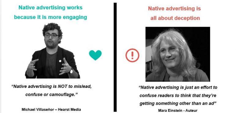 Native advertising ja of nee.
