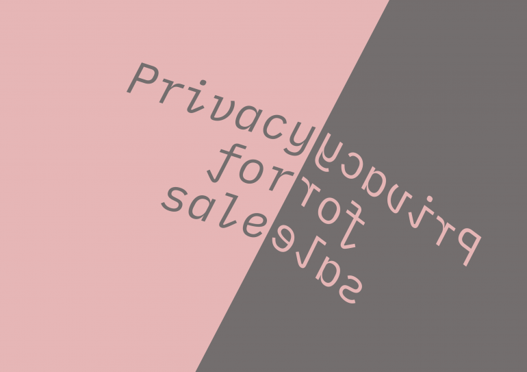 Privacy for sale