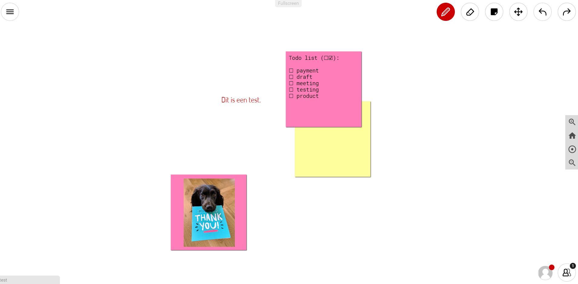 Screenshot van de tool Ziteboard.