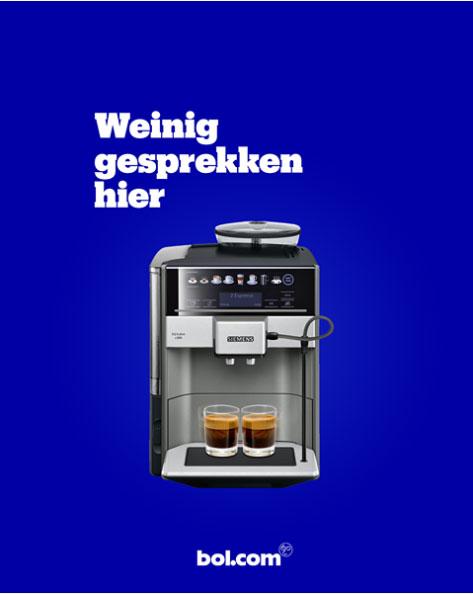 Bol.com weinig gesprekken hier bij koffieapparaat.