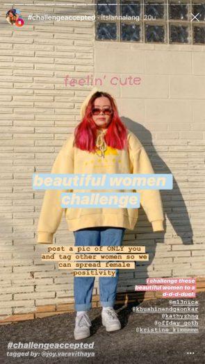 Instagram challenge.