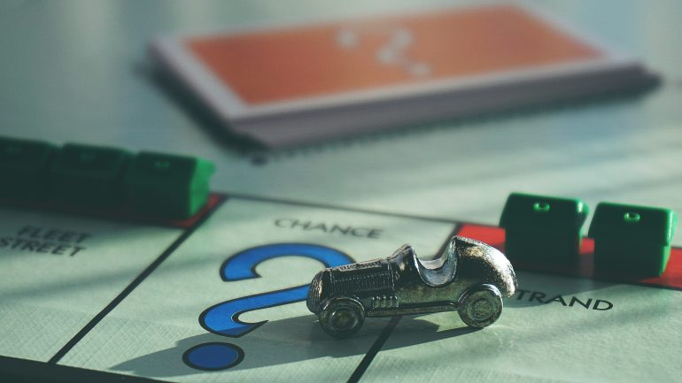 Monopolie-spel.