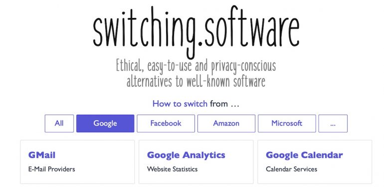 Switching software.