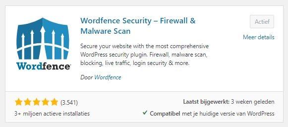 Wordfence beveiliging