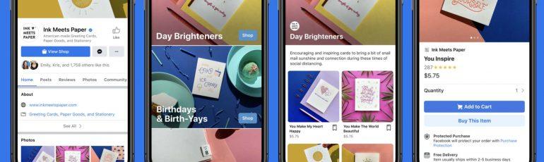 Facebook Instagram Shops header