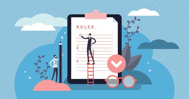 Regels en beleid voor organisatie bepalen.