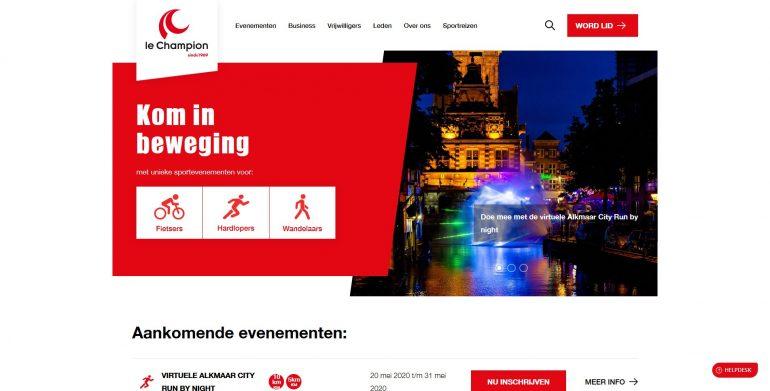 Website van Le Champion.