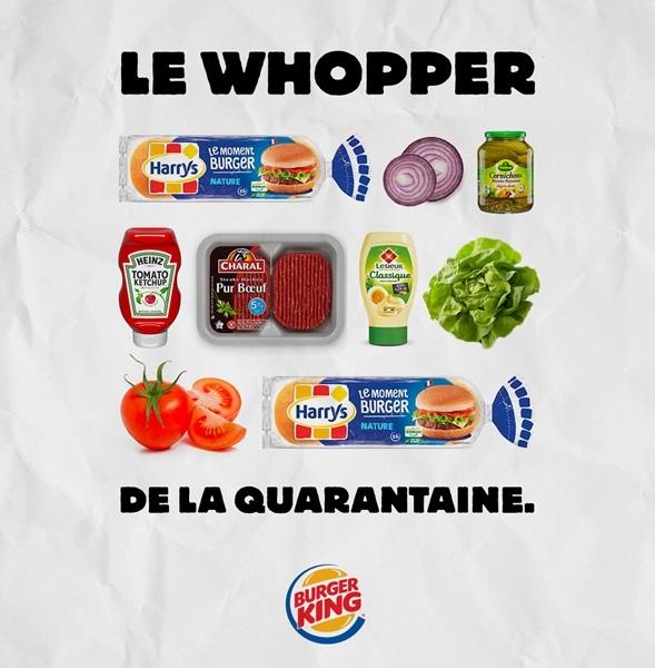 Afbeelding van de campagne van Burger King.