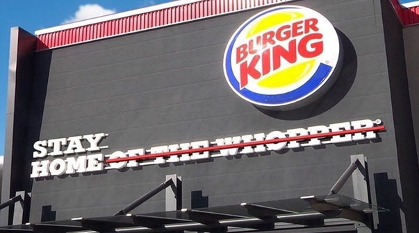 Foto van de storytellingcampagne van Burger King.