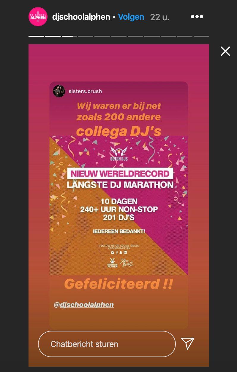 DJ School Alphen livevideo Instagram.