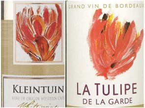 Wijnmerk La Tulipe naast het wijnmerk van HEMA: Kleintuin
