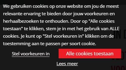 Goede cookiemelding