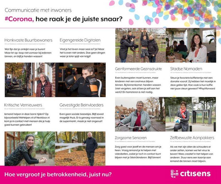 Voorbeeld van kernboodschappen voor specifieke typen Nederlanders – aansluitend bij hun belevingswereld.
