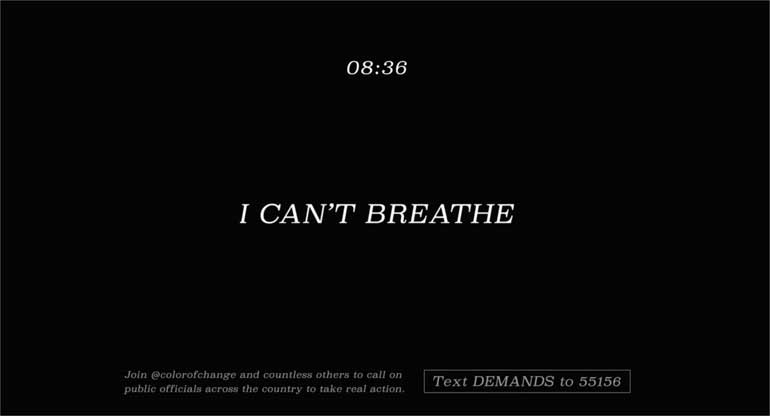 De 'I can't breathe' campagne.