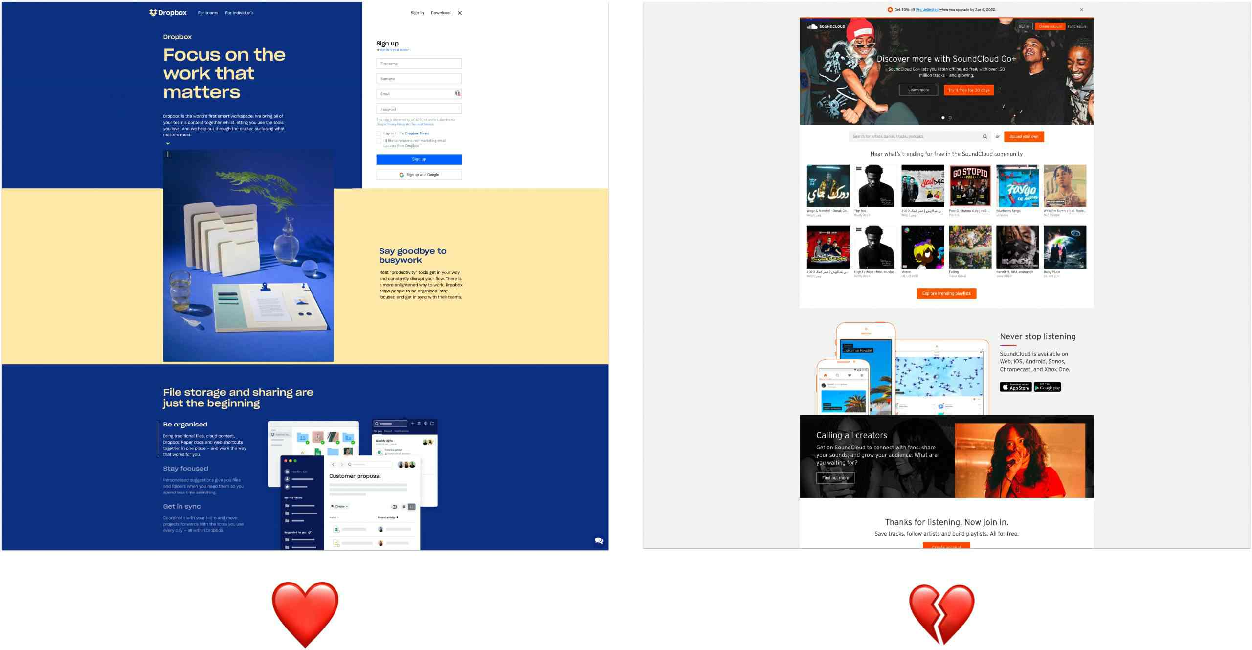 waardepropositie op homepages.