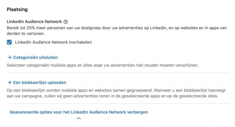 LinkedIn Audience Network update