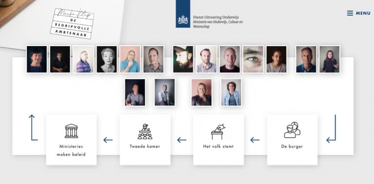Screenshot van de website De begripvolle ambtenaar