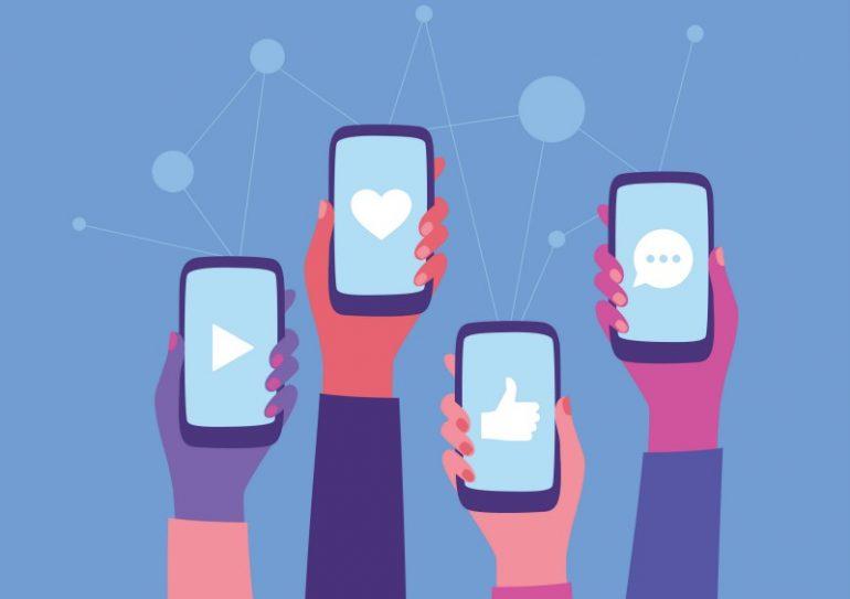 telefoons social media
