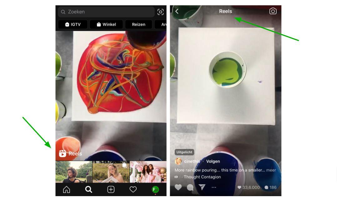 Instagram Reels screenshot.