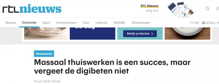 RTL nieuws schrijft over een trending topic.
