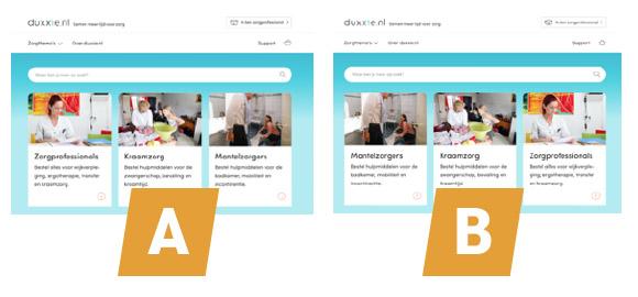 De volgorde van Content Blokken op de homepage zorgde voor een toename in CTR en conversie