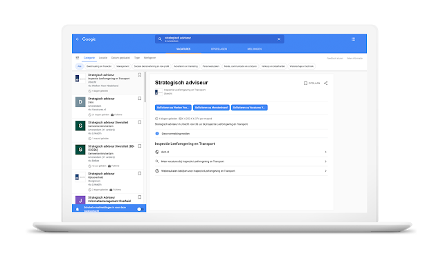 google for jobs vacatures