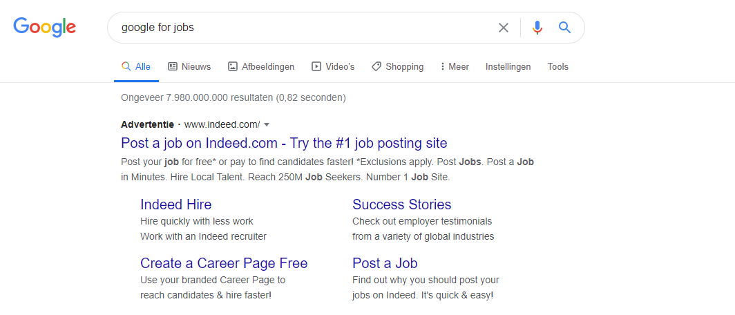indeed google for jobs
