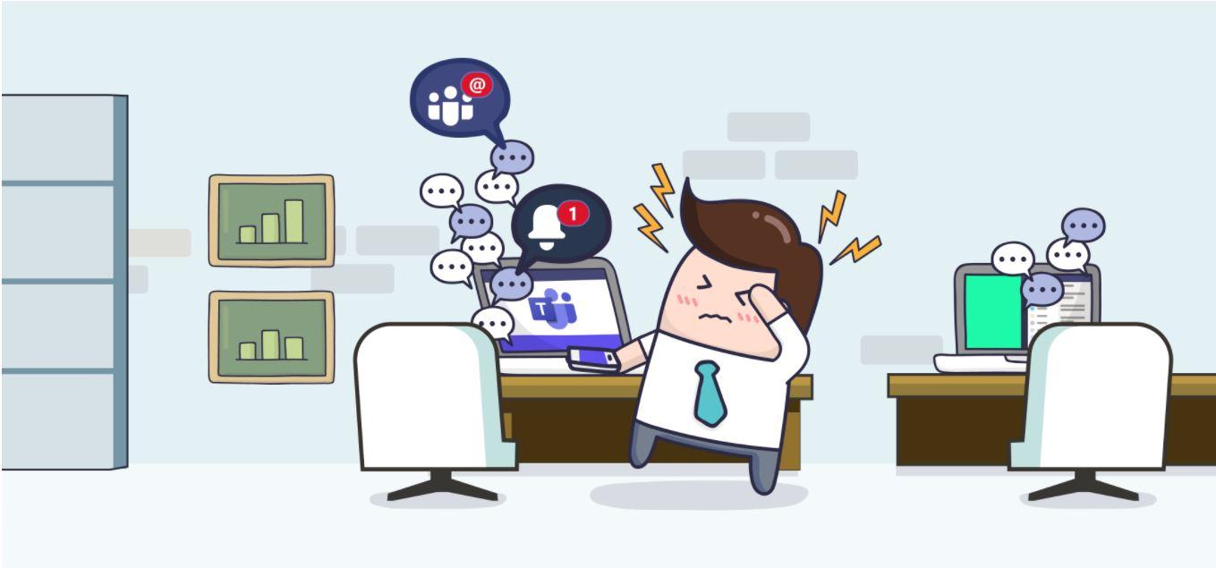 Illustratie bij punt 3. Interne communicatie binnen samenwerkingsplatforms