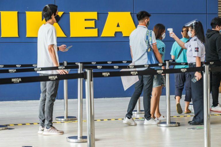 klanten shoppen corona ikea