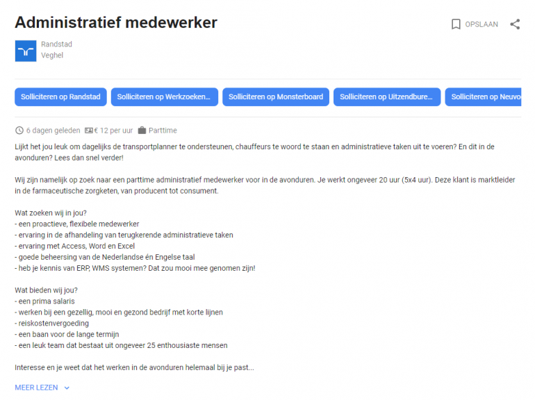 meer lezen google for jobs.