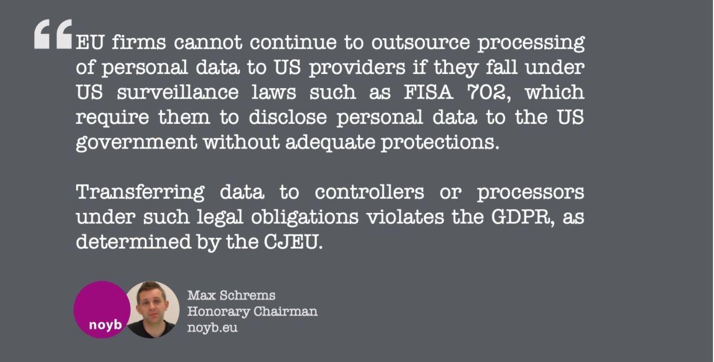 Quote van Schrems over de Privacy Shield-uitspraak