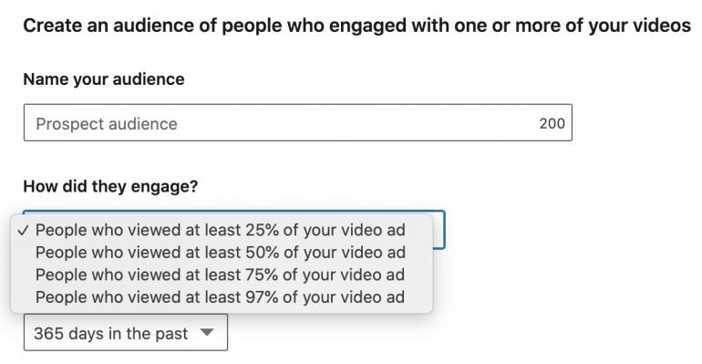remarketing linkedin video-advertentie