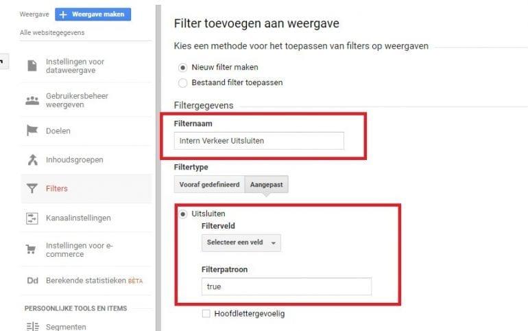 Screenshot filter toevoegen