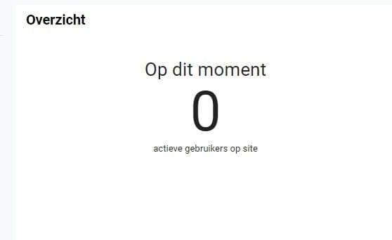Screenshot 0 actieve gebruikers