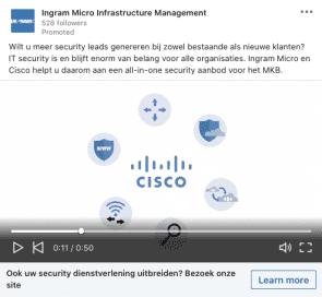 Cisco LinkedIn Ad