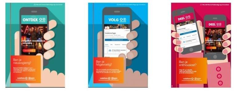 Interne campagne van VodafoneZiggo.