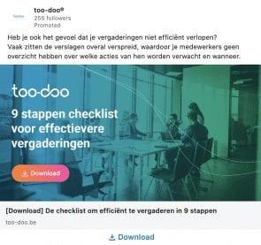 Too-Doo LinkedIn Ad