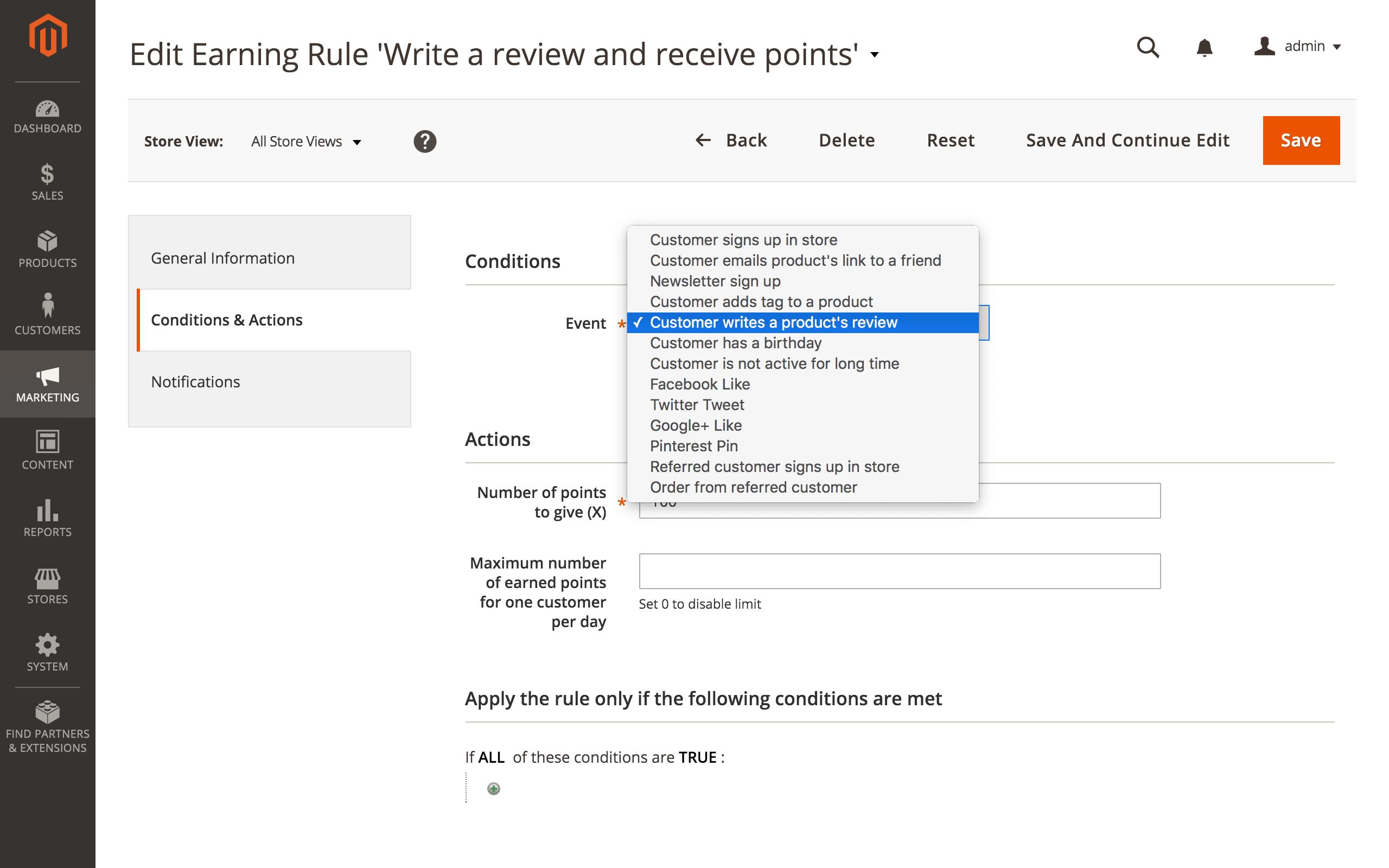 Screenshot van Reward Points, Referral and Loyalty Program.