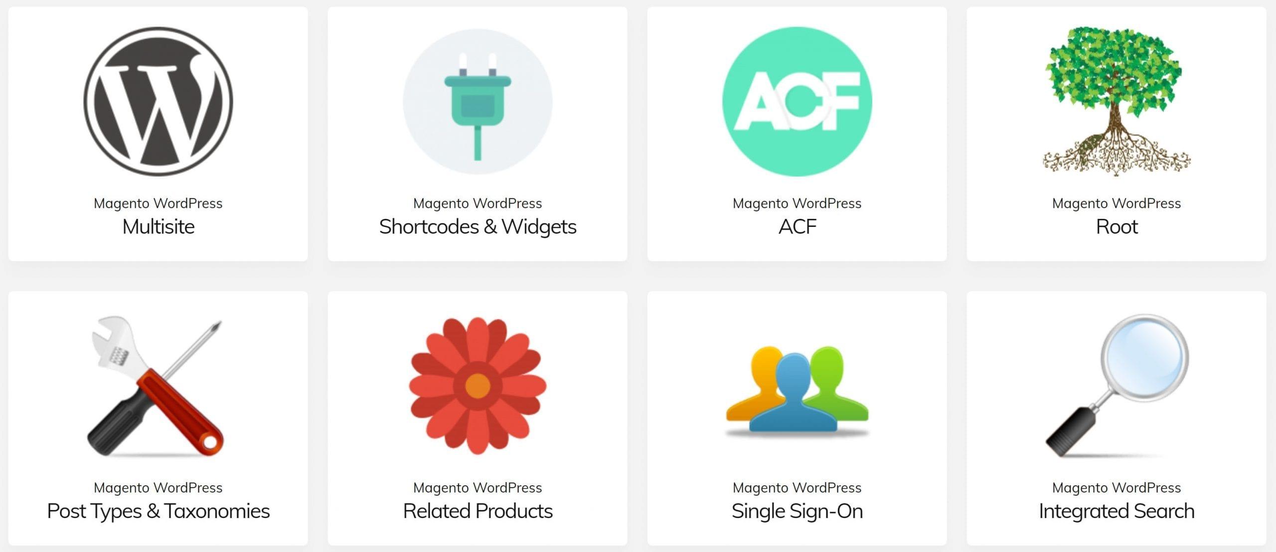 Screenshot van Fishpig WordPress Integration.