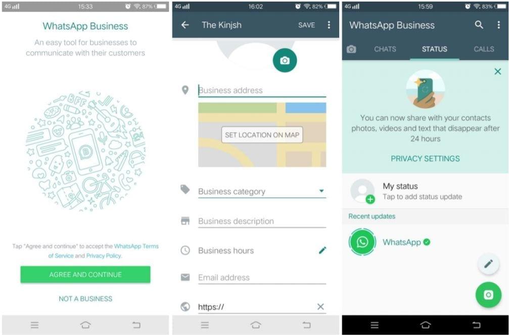 Voorbeeld van WhatsApp Business voor WhatsApp-marketing.