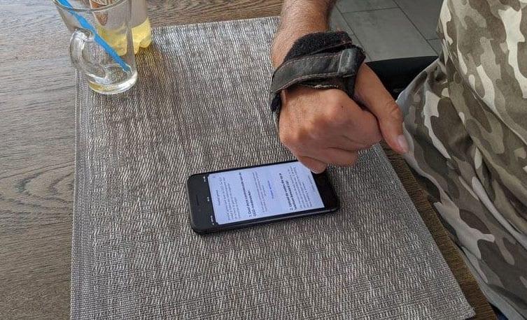 De app testen met een motorische beperking.
